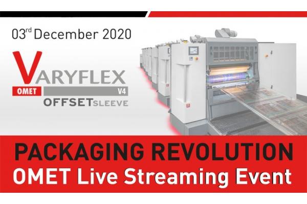 """Packaging Revolution"": live streaming event dedicated to OMET VaryFlex V4"